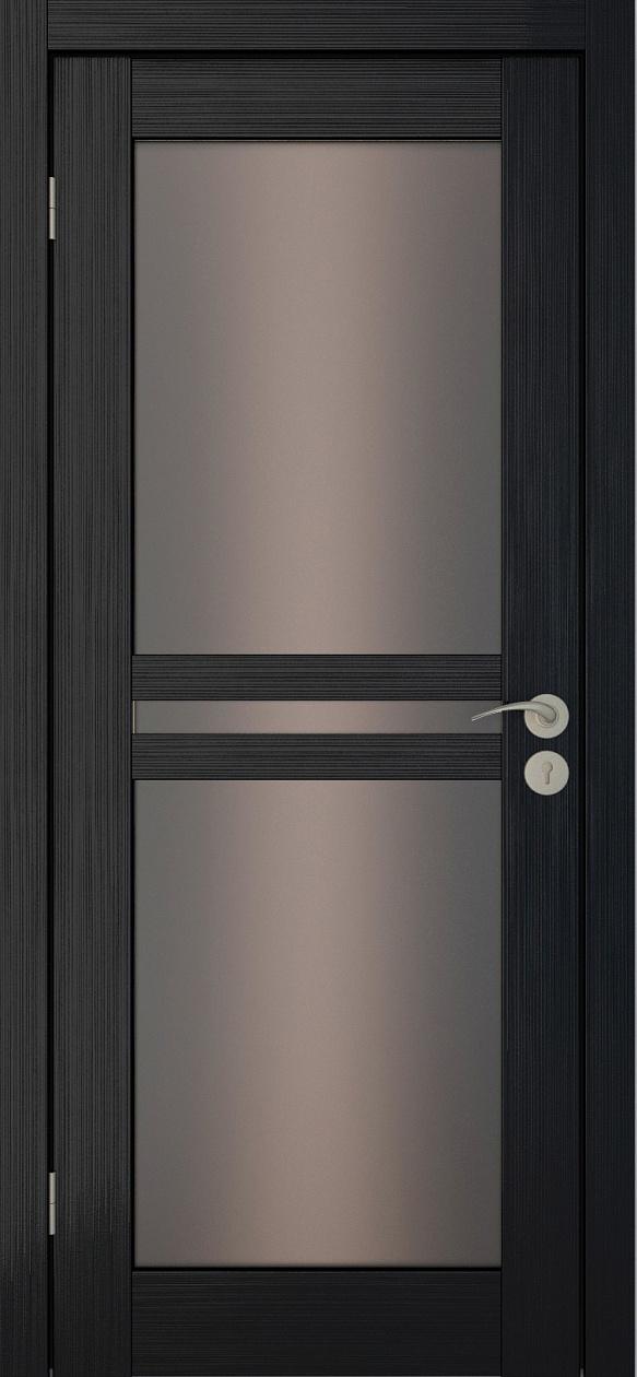 Межкомнатные двери Исток Паола-3 Венге мелинга бронза