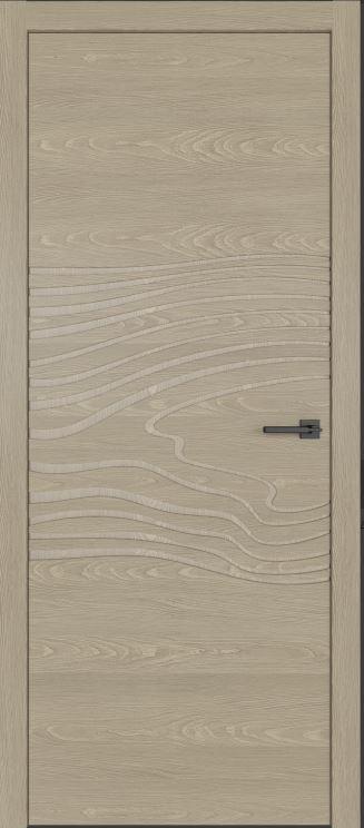 двери из натурального шпона дуба Симпл 102 с фрезеровкой Блонде