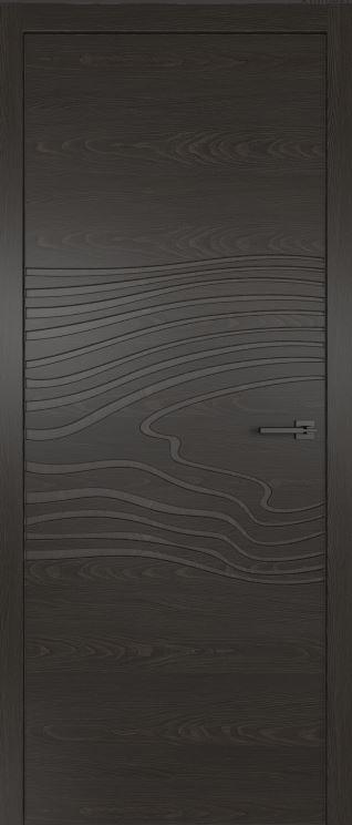 Двери из натурального шпона дуба Симпл 102 с фрезеровкой Гриджио