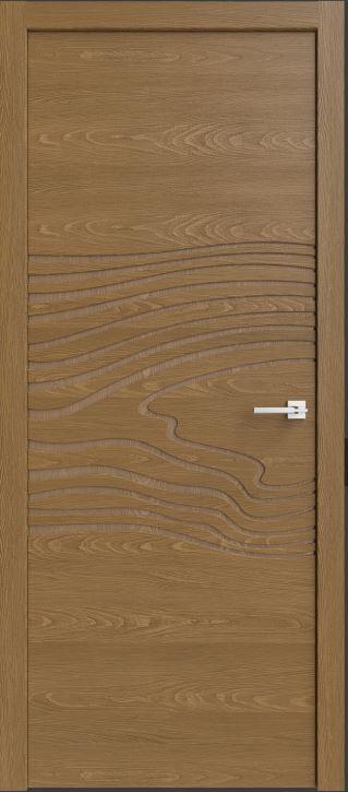 Межкомнатные двери натуральный шпон дуба Исток Симпл 102 с фрезеровкой