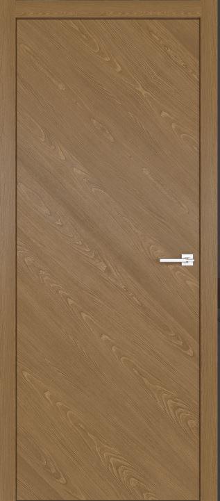 Двери межкомнатные из натурального шпона дуба Симпл 50 Карамель