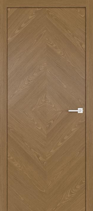 Межкомнатные двери из натурального шпона дуба Симпл 55 Карамель