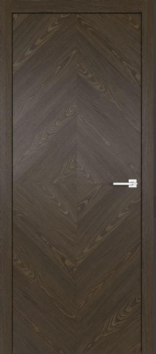 Межкомнатные двери из натурального шпона дуба Симпл 55 Корица