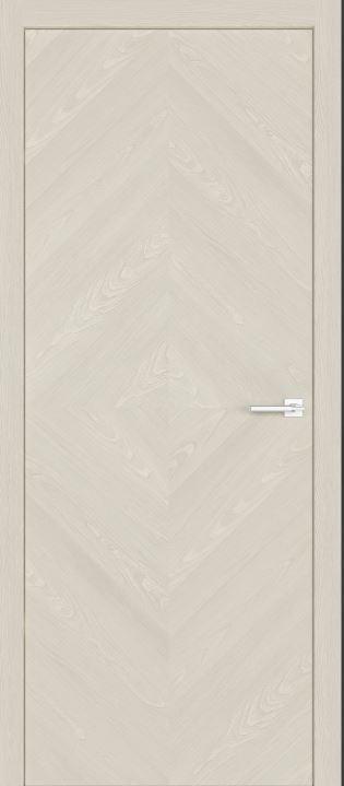 Межкомнатные двери из натурального шпона дуба Симпл 55 Крема