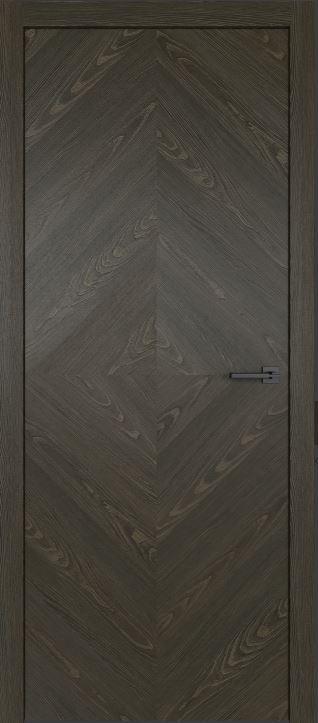 Межкомнатные двери из натурального шпона дуба Симпл 55 Морёный дуб