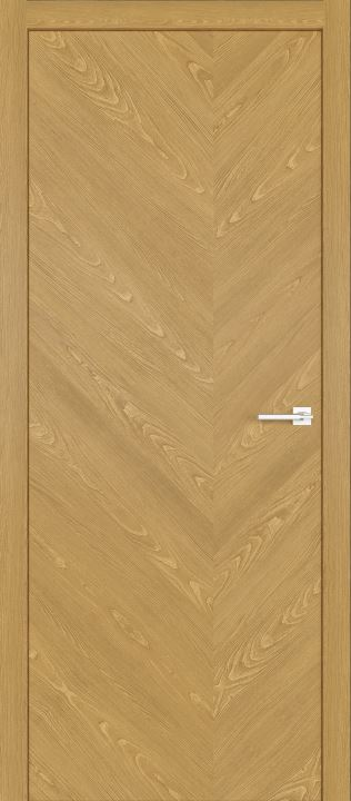 Межкомнатные двери из натурального шпона дуба Симпл 57 Натур