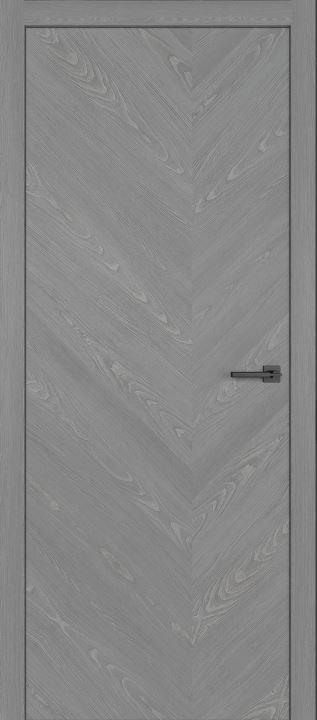 Межкомнатные двери из натурального шпона дуба Симпл 57 Пепел