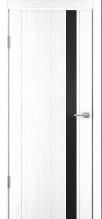 Межкомнатные двери Исток Стиль-5 Ясень белый черное