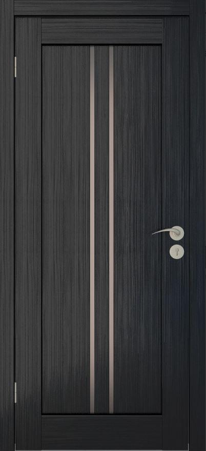 Двери межкомнатные вертикаль-1 Венге мелинга бронза