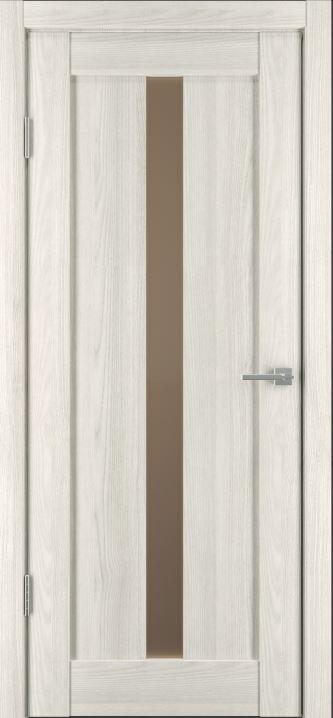 Межкомнатные двери Исток Вертикаль-2 Дуб снежный бронза