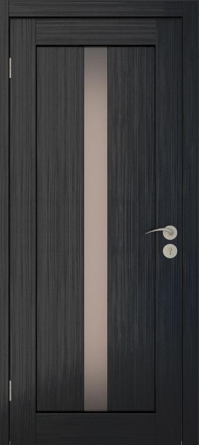 Межкомнатные двери Исток Вертикаль-2 Венге мелинга бронза