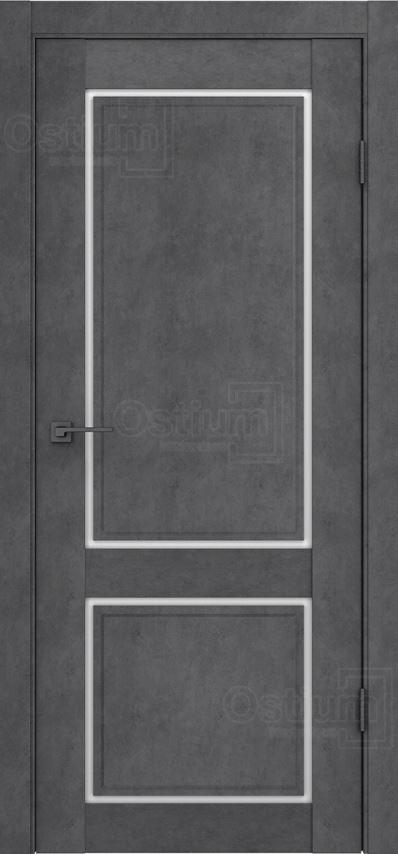 Межкомнатные двери Ostium F1 Лофт бетон графит
