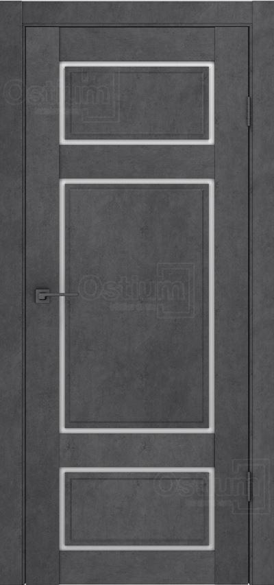 Двери межкомнатные Ostium F3 лофт бетон графит