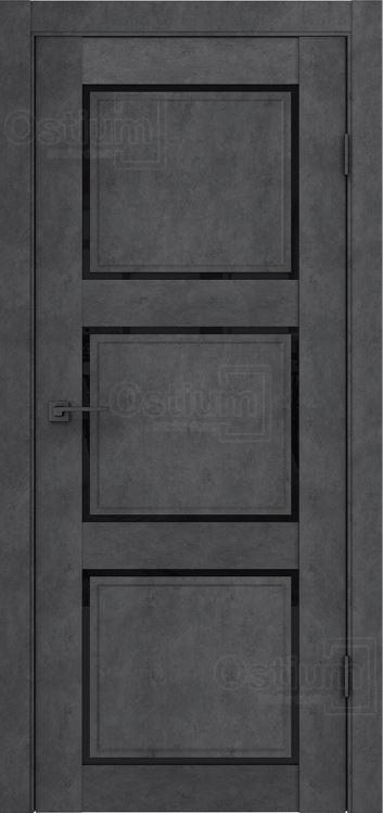 Межкомнатные двери Ostium F4 Лофт бетон графит