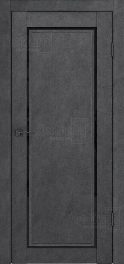 Межкомнатные двери Ostium F5 Лофт бетон графит