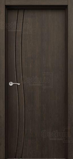 Межкомнатная дверь Сириус-1 ДГ Тиковое дерево