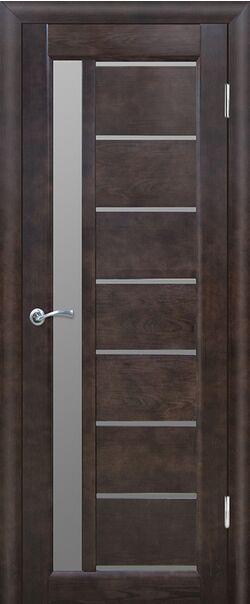 Межкомнатная двери массив сосны Вега 9 венге